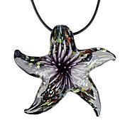 Romantic Resin Sea Star Pendant Necklace