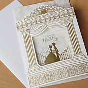 Elegant Trifolded Wedding Invitation - Set Of 50