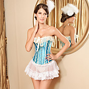 Satin/Lace Front Bust Closure Special Occation Corset And Skirt