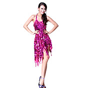 Dancewear Cotton and Polyester with Beadings Performance Latin Dance Dress For Ladies More Colors
