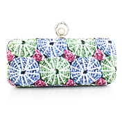 Gorgeous PU with Floral Print Evening Handbag/Clutches(More Colors)