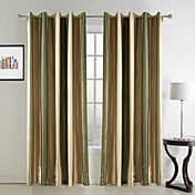 (One Pair) Splendor Country Stripes Room Darkening Curtain
