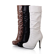 Elegant Leatherette Stiletto Heel Mid-Calf Boots Party / Evening Shoes (More Colors)