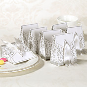 25th Anniversary Favor Box With Silver Ribbon (Set of 12)