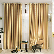 (One Pair) Stone Pattern Embossed Energy Saving Curtain