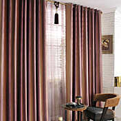 Modern Stripe Print Room Darkening Curtains (Two Panels)
