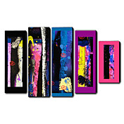 Hand Painted Oil Painting Abstract Set of 5 1211-AB0204