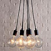 60W E27 Minimalist Pendant Light with 7 Lights