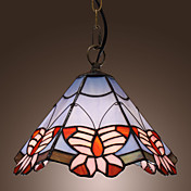 Tiffany Pendant Light with Butterfly Pattern