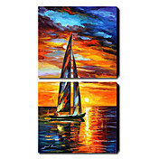 Hand Painted Oil Painting Landscape Set of 2 1211-LS0073