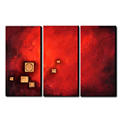 Hand Painted Oil Painting Abstract Set of 3 1211-AB0181
