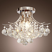Chrome Finish Crystal Chandelier with 3 lights