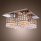 Stainless Crystal Ceiling Light Gein Pattern with 4 Lights