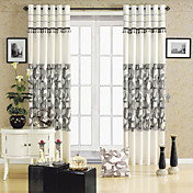 (One Panel) Energy Saving Modern Geometic Print Curtain