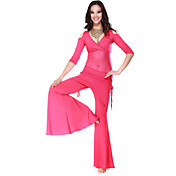 Performance Dancewear Crystal Cotton and Tulle Belly Dance Outfit For Ladies More Colors