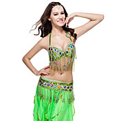 Performance Dancewear Belly Top And Belt Polyester With Sequined Style