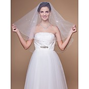 One-tier Elbow Wedding Veils With Finished/Pencil Edge (More Colors)