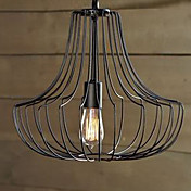 40W Metal Pendant Light in Cage Feature