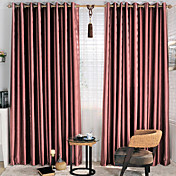 (Two Panels) Stone Pattern Embossed Energy Saving Curtains