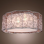 Contemporary Flush Mount with 2 lights (Fabric Shade)
