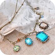 Women's Vintage Gem Necklace