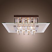 Comtemporary Crystal Drop Flush Mount Lights with 5 Lights in Square Design