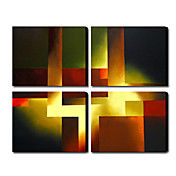 Hand Painted Oil Painting Abstract Set of 4 1211-AB0281