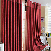 (One Panel) Clsaaic Floral Embossed Blackout Curtain