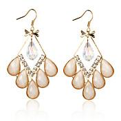 Pretty Alloy Crystal Irregular Chandelier Earrings