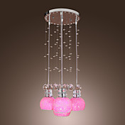 Crystal Ball Drop 4-Light Pendant Light