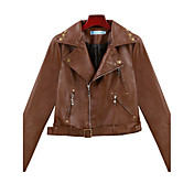 ALAN Faux Leather Slim Jacket with Rivet (More Colors)