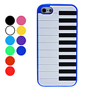 Piano Keyboard Style Soft Case for iPhone 5 (Assorted Colors)