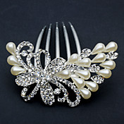 Chic Peafowl Alloy With Rhinestone / Imitation Pearl Women's Hair Combs