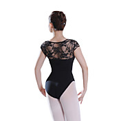 Lace Back Dancewear Cotton/Spandex Leotard For Ladies