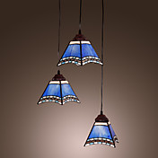 40W Antique Inspired Pendant Light with 3 Lights