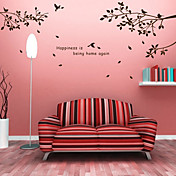 Trees Branches and Birds Wall Stickers