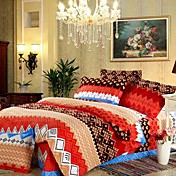 Novelty Stylish Full / Queen 4-Piece Duvet Cover Set
