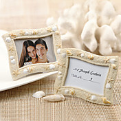 Seaside' Sand and Shell Placecard Holder/Photo Frame