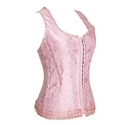 Charming Polyester with Embroidery Front Busk Closure Corsets Shapewear