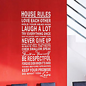 House Rules Art Words Wall Stickers