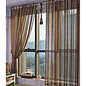 (Two Panels) Kent Traditional Sheer Curtains