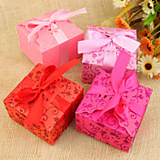 Pretty Floral Theme Favor Boxes - Set of 12 (More Colors)