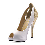 Silk Stiletto Heel Pumps Wedding Shoes