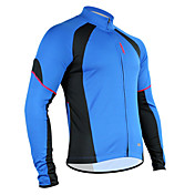 Santic Polyester+Mesh Long Sleeve Breathable+Quick-Drying Cycling Jacket for Men C01012B