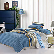 Multi Color Stripe Full / Queen 4-Piece Duvet Cover Set