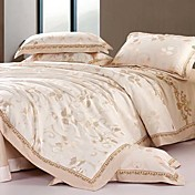 4PCS Fabulous Beige Duvet Cover Set