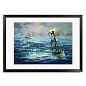 Printed Art Landscape Sea Vessels 1301-LS0318