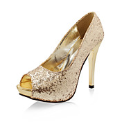 Sparkling Glitter Peep Toe Stiletto Pumps (More Colors)
