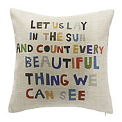 Letters Cotton Decorative Pillow Cover