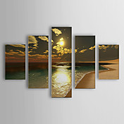 Hand-painted Oil Painting Landscape Oversized Landscape Set of 5